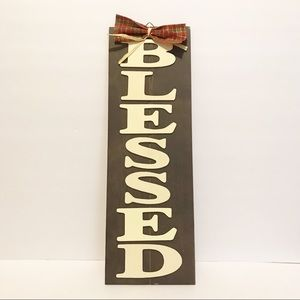 "NWT farmhouse/rustic ""BLESSED"" wood sign"